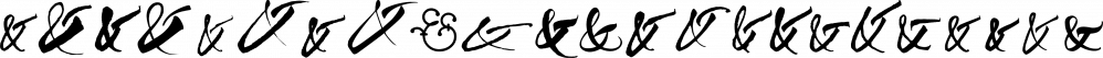 Ampersanders font family by Resistenza.es