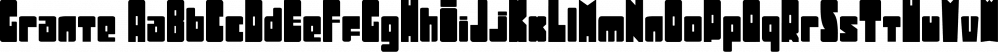 Grante font family by PintassilgoPrints