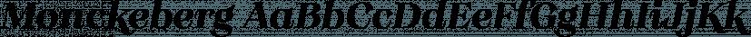 Monckeberg font family by Latinotype