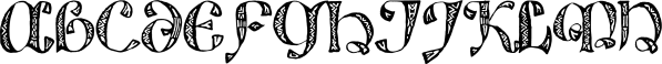 825 Lettrines Karolus font family by GLC Foundry