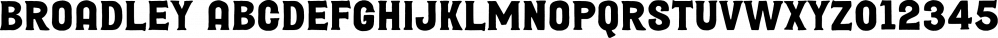 Broadley font family by Letterhend Studio