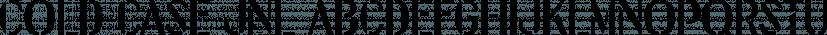 Cold Case JNL font family by Jeff Levine Fonts