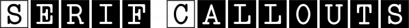 Serif Callouts JNL font family by Jeff Levine Fonts