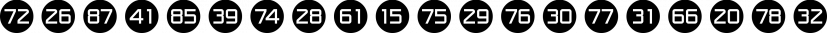 Numbers Style One font family by Gerald Gallo Fonts