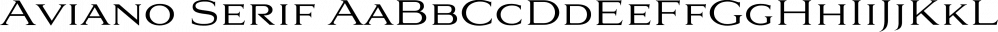 Aviano Serif font family by Insigne Design