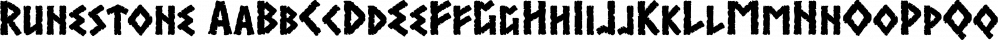 Runestone font family by K-Type