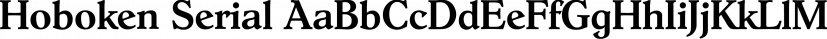 Hoboken Serial font family by SoftMaker