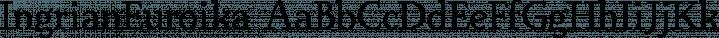 IngrianEuroika font family by Ingrimayne Type