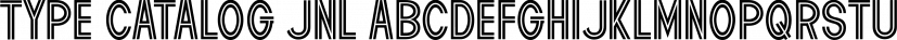 Type Catalog JNL font family by Jeff Levine Fonts