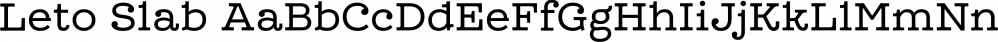 Leto Slab font family by Glen Jan