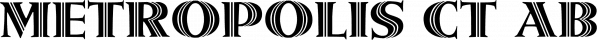 Metropolis CT font family by CastleType