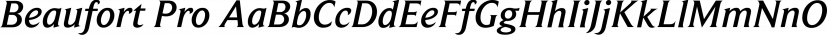 Beaufort Pro font family by Shinntype