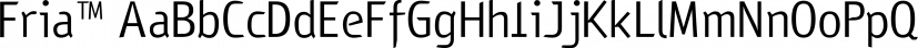 Fria™ font family by MINDCANDY