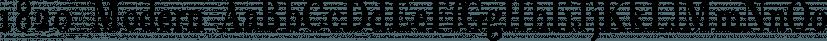 1820 Modern font family by GLC Foundry