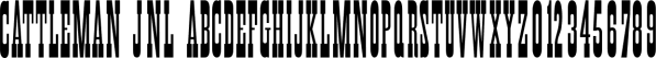 Cattleman JNL font family by Jeff Levine Fonts