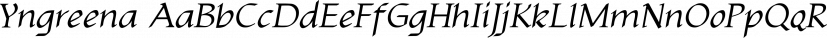 Yngreena font family by Ingrimayne Type