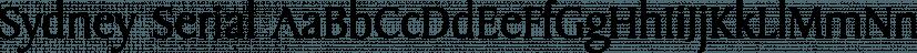 Sydney Serial font family by SoftMaker