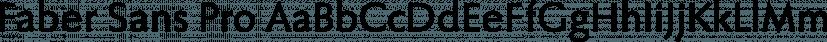 Faber Sans Pro font family by ingoFonts