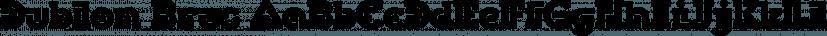 Dublon Brus font family by ParaType