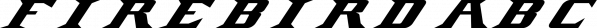 Firebird font family by Cerri Antonio
