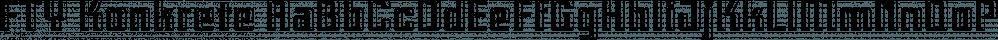 FTY Konkrete font family by The Fontry