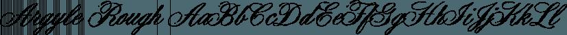 Argyle Rough font family by Type Associates