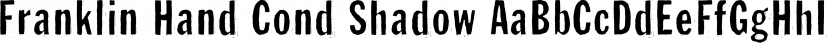 Franklin Hand Cond Shadow font family by Wiescher-Design