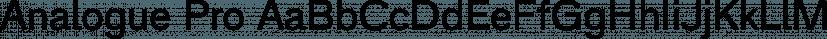 Analogue Pro font family by ingoFonts