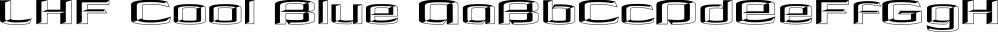 LHF Cool Blue font family by Letterhead Fonts