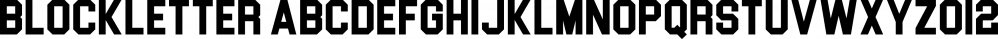 Blockletter font family by Sharkshock