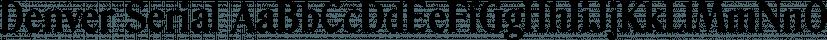 Denver Serial font family by SoftMaker