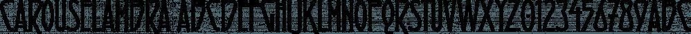 Carouselambra font family by Typodermic Fonts Inc.
