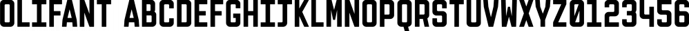 Olifant font family by Hipopotam Studio