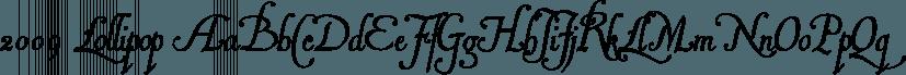 2009 Lollipop font family by GLC Foundry