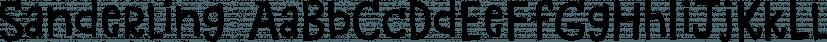 Sanderling font family by Atlantic Fonts