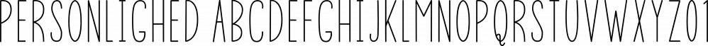 Personlighed font family by Bogstav