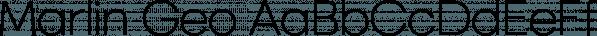 Marlin Geo font family by FontMesa