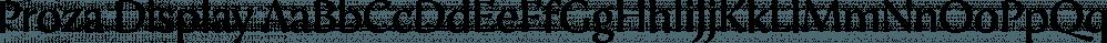 Proza Display font family by Bureau Roffa