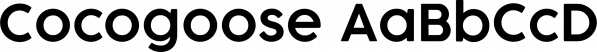 Cocogoose font family by Zetafonts