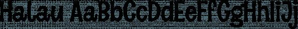 Halau font family by Vintage Voyage Design
