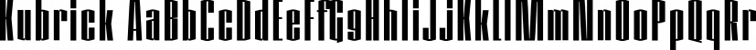 Kubrick font family by Quadrat Communications