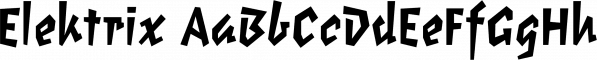 Elektrix font family by Emigre