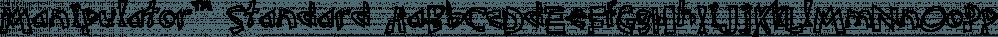 Manipulator™ Standard font family by MINDCANDY