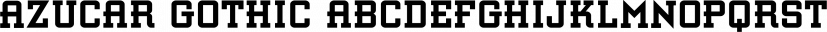 Azucar Gothic font family by FontSite Inc.