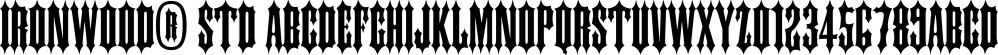 Ironwood® Std font family by Adobe