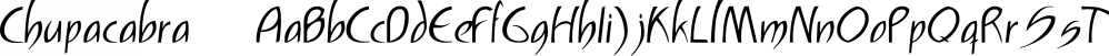 Chupacabra™ font family by MINDCANDY