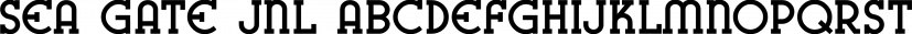 Sea Gate JNL font family by Jeff Levine Fonts