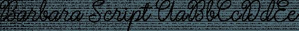 Barbara Script font family by Picatype Studio