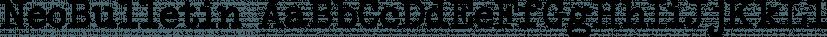 NeoBulletin font family by Intellecta Design