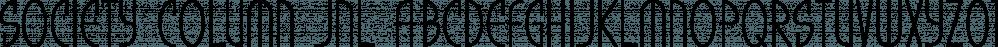 Society Column JNL font family by Jeff Levine Fonts